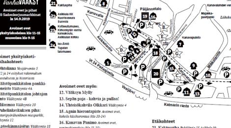 Avoimet ovet ja pihat & Sadonkorjuumarkkinat 14.9. ohjelma
