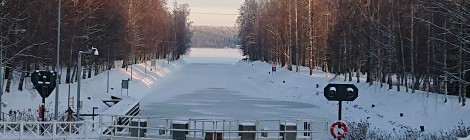 Vuodenvaihteessa 2018-2019 oli lunta ja pakkasta.