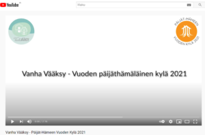 Vanha Vääksy Video - Vuoden päijäthämäläinen kylä 2021